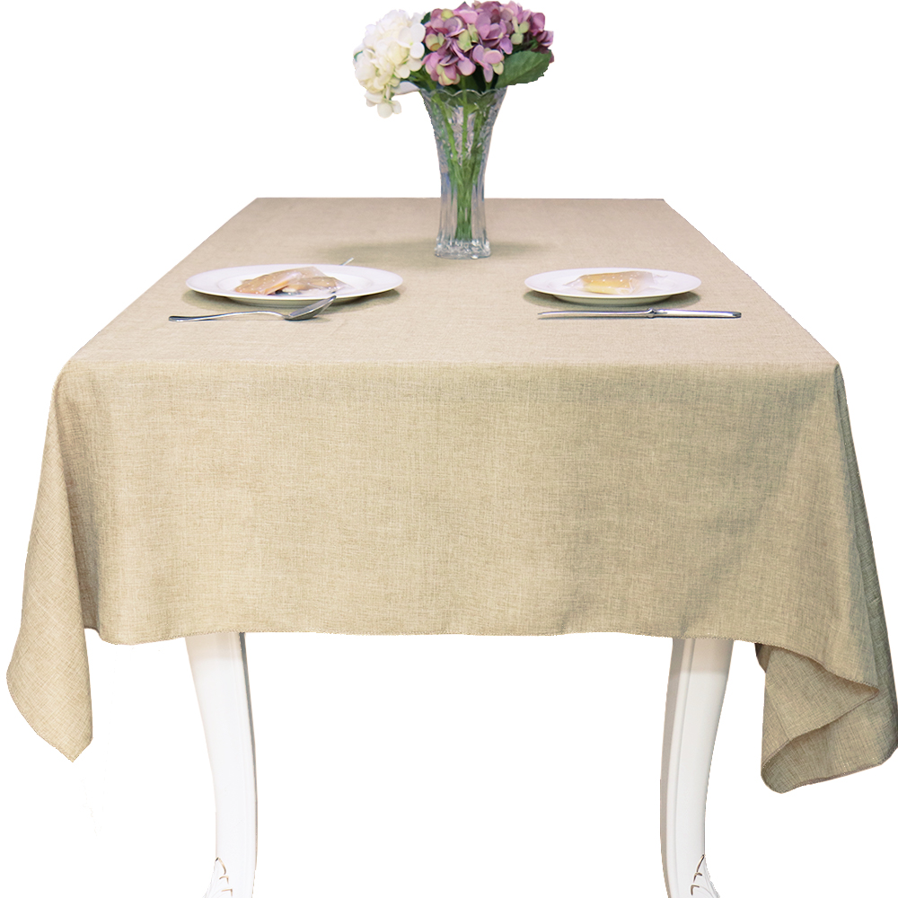 1PC Simple Imitation Linen Cotton Linen Tablecloth  Dining Table Coffee Table Cover For Home Hotel Textile Banquet Decor