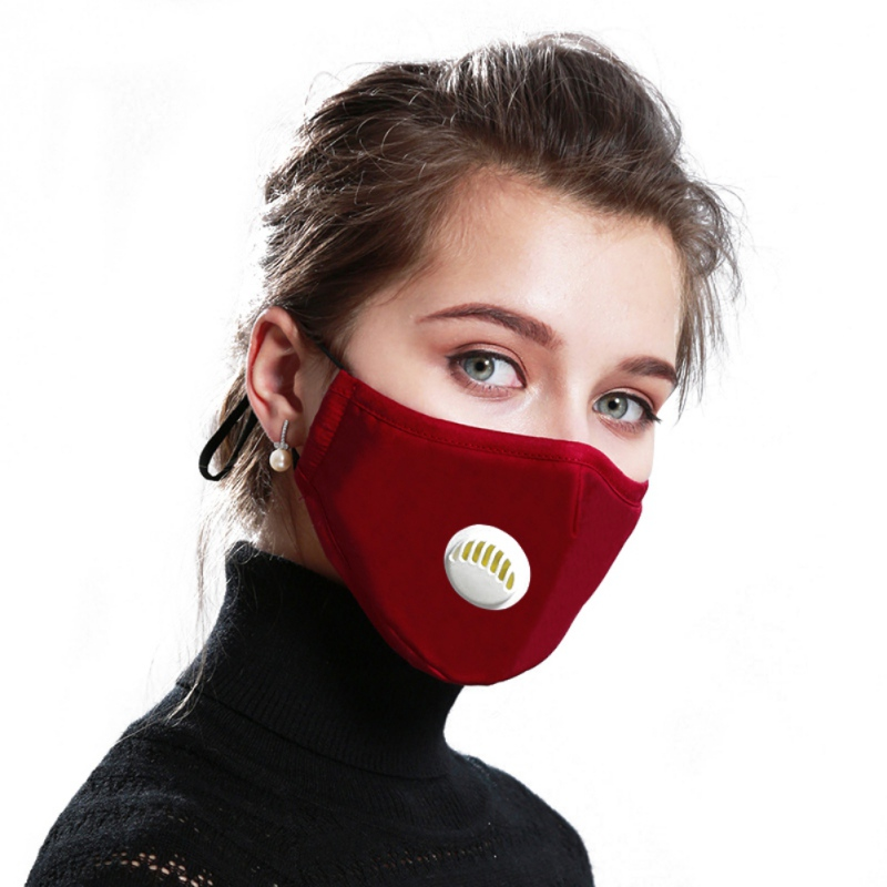 Cotton Mask Anti Haze Anti PM2.5 Anti-Dust Mask Activated Carbon Filter Respirator Mouth-muffle With Valve