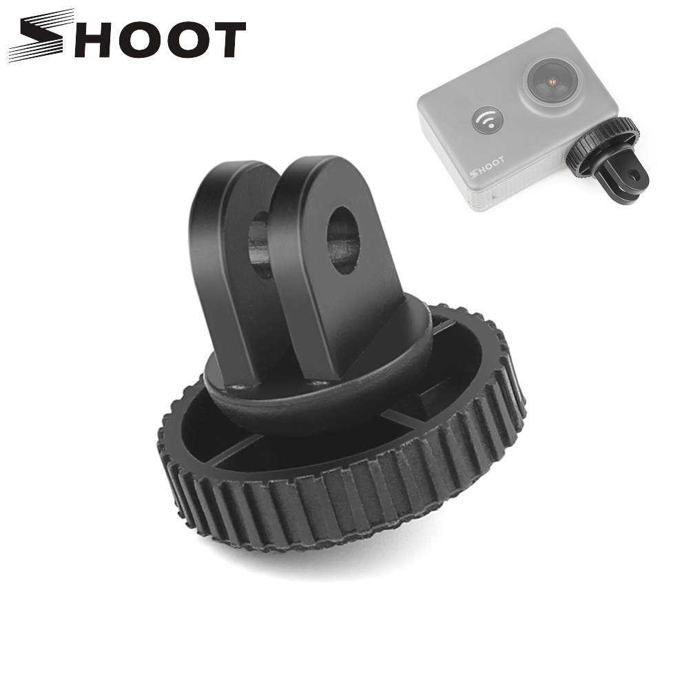 SHOOT 1/4 Inch Mini Tripod Adapter Mount For GoPro Hero 7 6 5 Black Xiaomi Yi 4K Sjcam Sj4000 Eken Go Pro Hero 7 6 5 Accessories