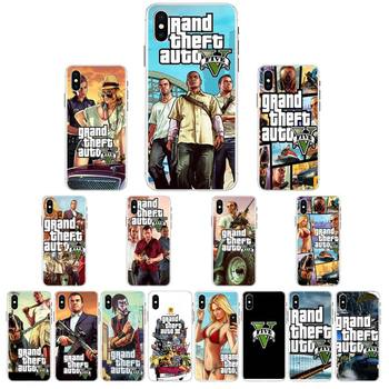 YNDFCNB Grand Theft Auto Phone Case For iPhone X XS MAX 6 6s 7 7plus 8 8Plus 5 5S se 2020 XR 12 11 pro max case image