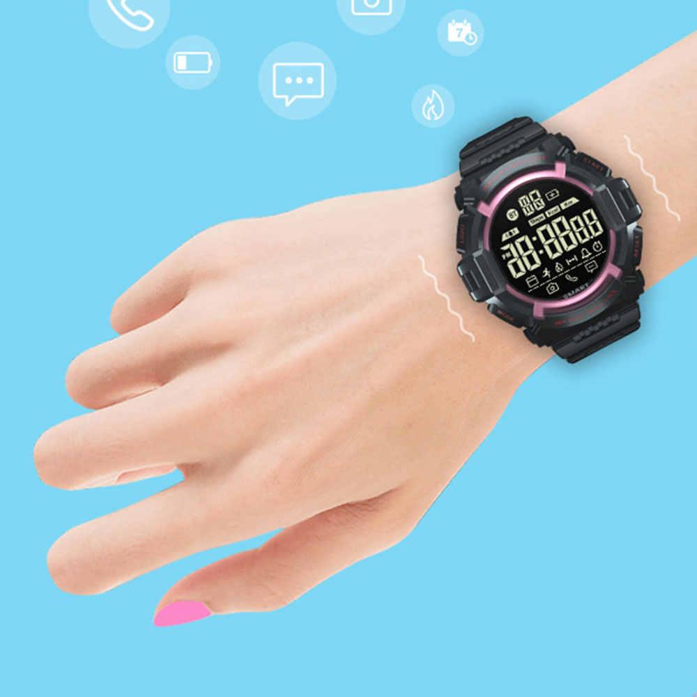 EX16S ساعة ذكية في الهواء الطلق الرياضية 5ATM الإخطار التحكم عن بعد عداد الخطى ساعة رياضية IP67 للماء الإناث ساعة يد رجالي