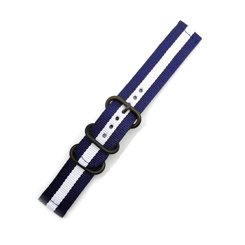 Quick Release Watch Strap for Men Women Premium Nylon NATO Watch Band with Black Stainless Buckle