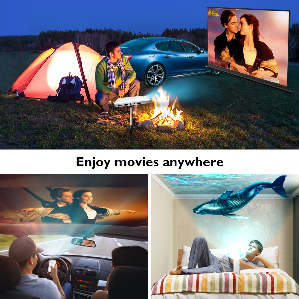 Image 4 - CRENOVA 2019 Newest Mini Projector X2 With Android 7.1OS WIFI Bluetooth (2G+16G), Support 4K Video Portable 3D Projector Beamer-in LCD Projectors from Consumer Electronics