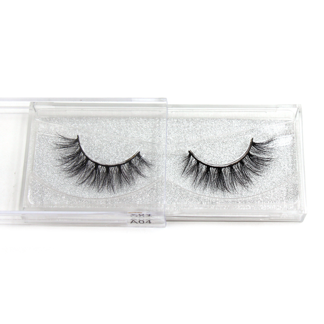 LEHUAMAO Luxury 5D Mink Hair False Eyelashes Wispy Cross natural Mink Lashes Extension Tools Makeup Handmade Mink Eyelashes A04 3