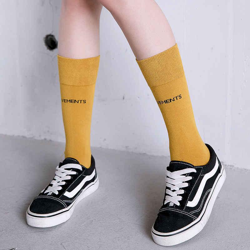Новые модные женские носки унисекс, однотонные хлопковые носки, чулки, мягкие ретро уличные носки Harajuku, милый и интересный подарок