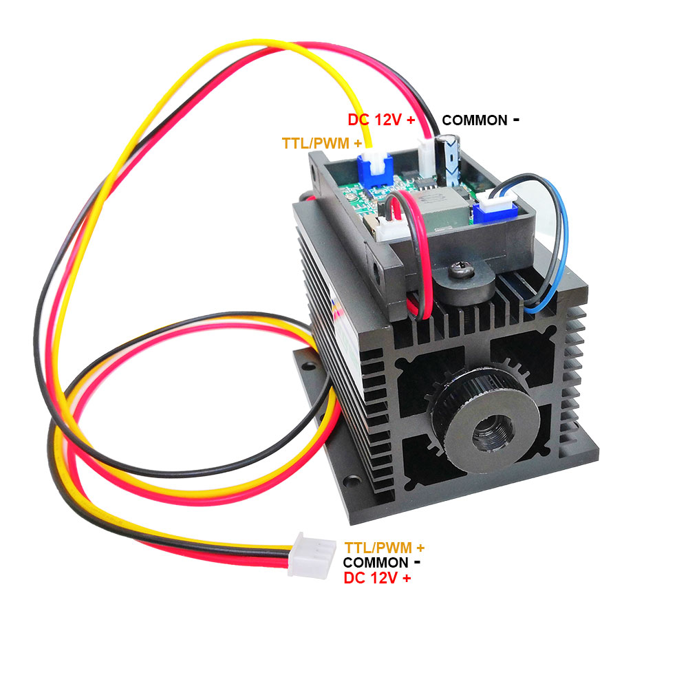 High Power <font><b>Laser</b></font> Head Module <font><b>15W</b></font> <font><b>Diode</b></font> Engraver Machine Printer CNC Cutter Parts with TTL PWM for engraving cutting diy image