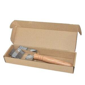 Image 5 - Многофункциональные инструменты для пчеловодства с двойной иглой из нержавеющей стали и дерева 304, подходят для расчесывания меда, вилки для снятия колпачков