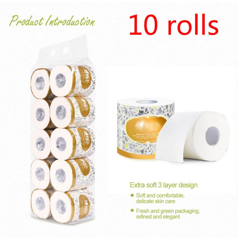 10roll Smooth Professional Series Premium 3Ply Thick Toilet Paper Home Kitchen Toilet Tissue Soft Skin-friendly Affordable Paper