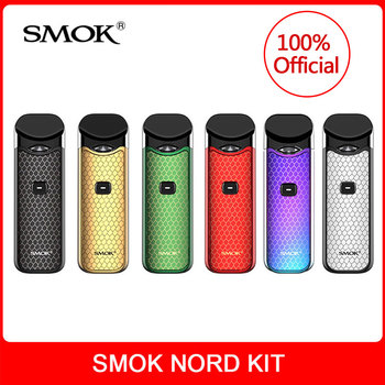 Original SMOK Nord Kit with Built-in Battery+Coils+Pod 3ml For Electronic Cigarette smok nord pod vape kit vs smok novo vape kit electronic cigarette jsld 150w adjustable vape mod box kit 2200mah 0 3ohm battery 3ml tank e cigarette big smoke vs jsld txw kit