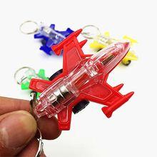 Мини самолет светодиодный светильник игрушки брелок вечерние сувениры детские игрушки подарок сумка для гаджетов кулон