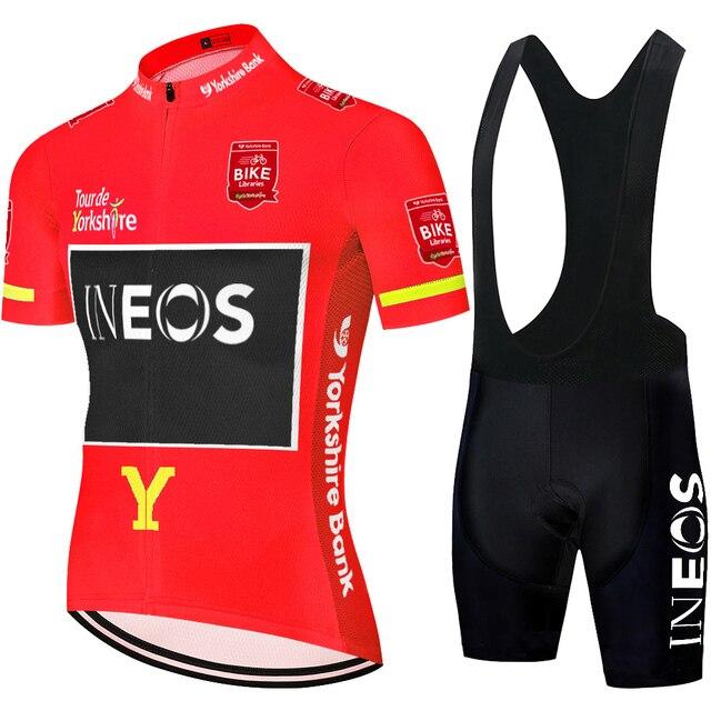 2020 프로 팀 INEOS 사이클링 저지 팀 ropa ciclismo hombre 사이클링 의류 남성 여름 사이클링 저지 세트