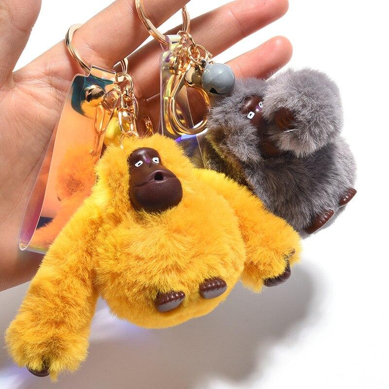 Cute Plush Animal Toy Plush Orangutan Monkey Animals Clip Keychains Kids Plush Toys