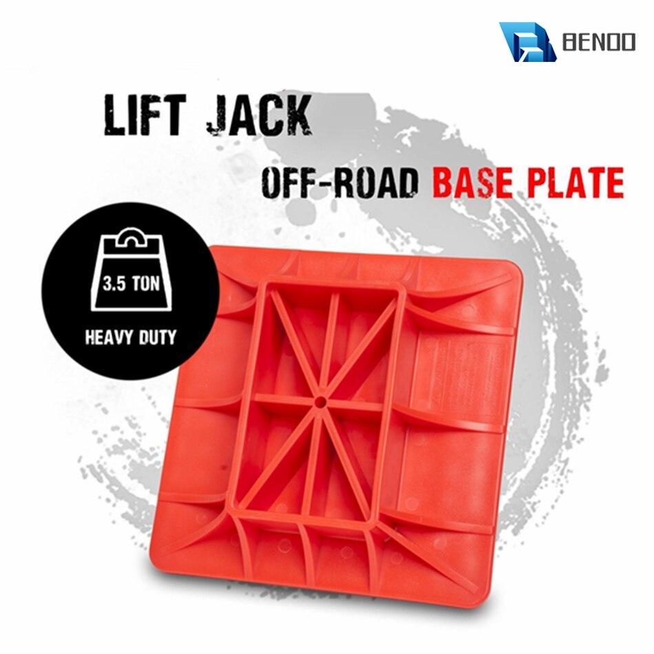 Benoo 1pc abs vermelho modificado reforçado náilon jack base fora de estrada levantamento jack almofada de superfície para aliviar jack içamento sinkage