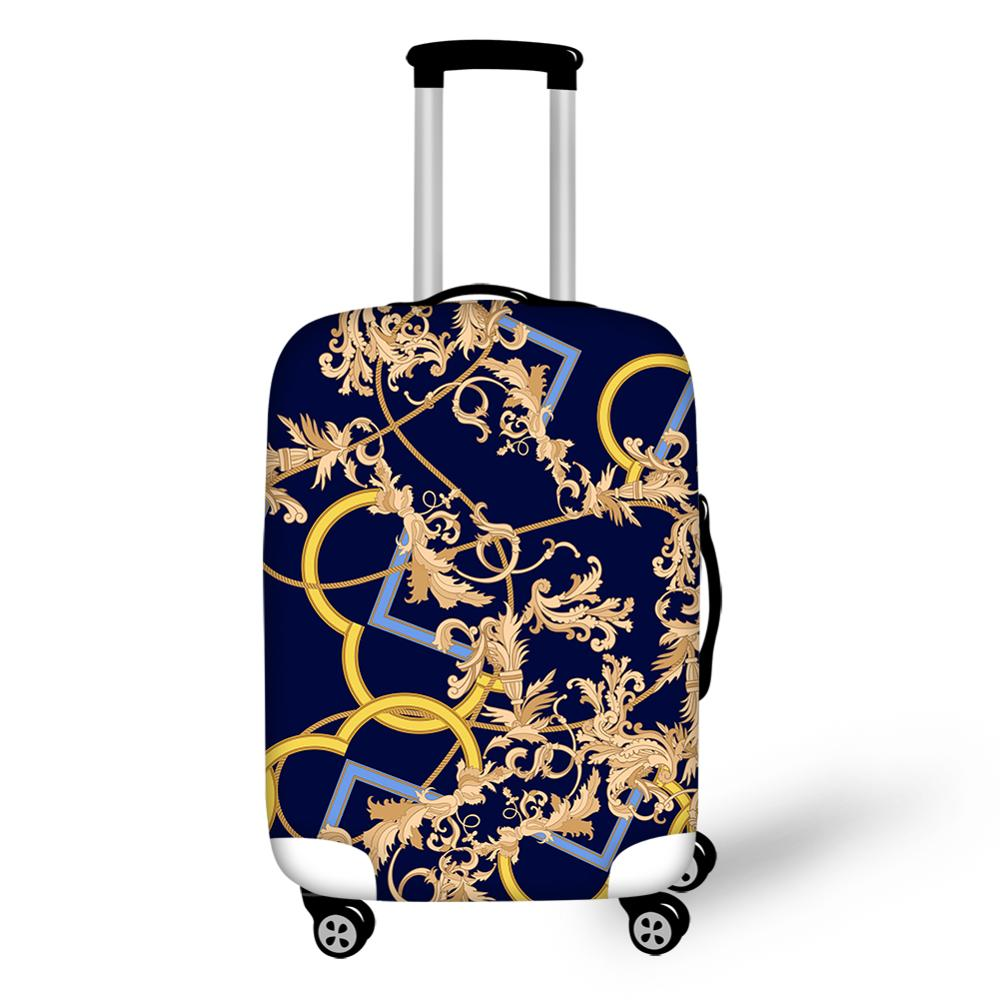 Customized European Pattern Print Luggage Protective Cover For Trolley Suitcase Elastic Dust Bags Case Travel Accessories