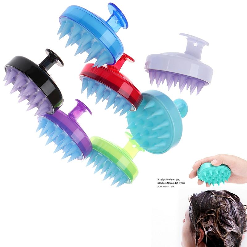 Silicone Plastic Massager Shampoo Scalp Massage Brush Hair Washing Body Shower Brush Bath Spa Massage Brush And Facial Cleansing