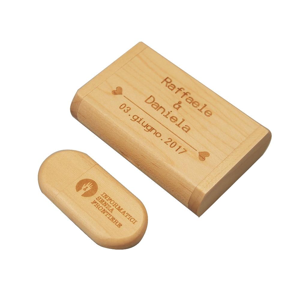 300pcs USB + Box 4GB 2.0 Free Logo
