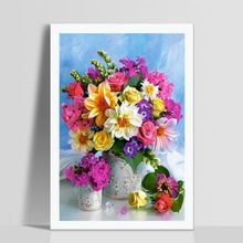 Diamond Full Of Diamonds Household Decor DIY Crystal Fashion All-match Hand Made Funny Flower Theme Paintings