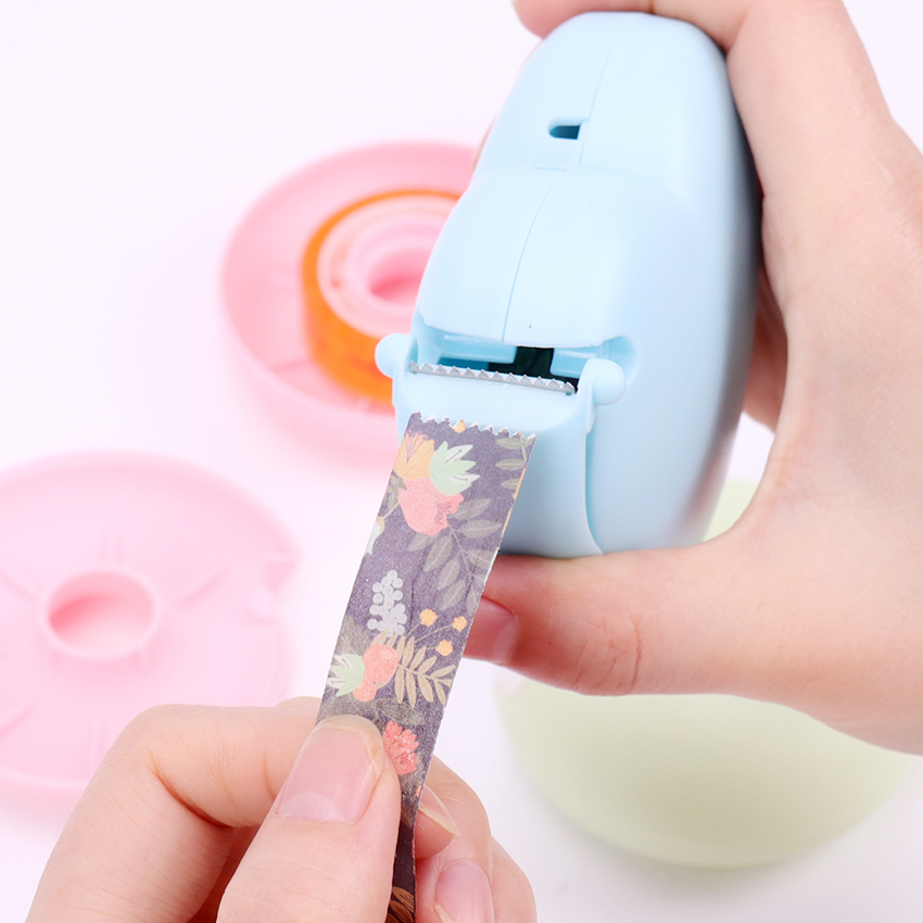 Candy Color Masking Tape Cutter Design Of Love Heart/Donut Shape Washi Tape Cutter Office Tape Dispenser School Supply