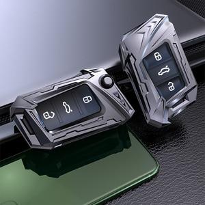Image 2 - Aviation zinc alloy Car Key Case For VW Volkswagen Polo Golf 4 5 6 7 T5 Passat B6 B5 Skoda Octavia A5 A7 Seat Leon Ibiza Ateca