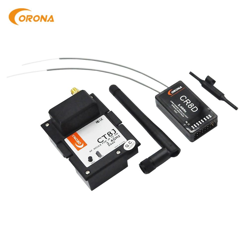 Corona 2.4Ghz JR Graupner Module & Rx Combo Kit CR8D+CT8J  V2 DSSS