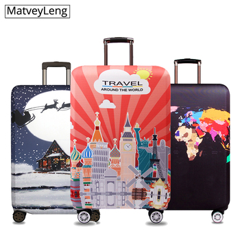 New Fashion Travel Luggage Cover Dustproof Protective Travel Suitcase Cover For 18-32 Inch Trolley Bag Case Luggage Accessories цена 2017
