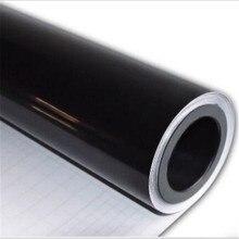 60*152 см черная, глянцевая, виниловая пленка для автомобиля, меняющая цвет, наклейка из фольги с воздушным пузырьком, самоклеющаяся пленка для...