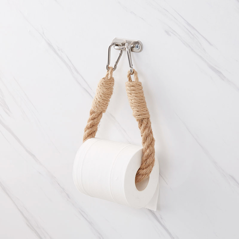 Vintage Towel Hanging Rope Toilet Paper Holder Home Hotel Bathroom Decoration Supplies