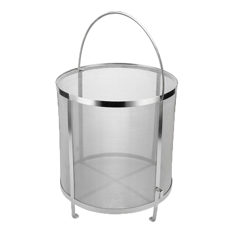 Cesta de filtro de cerveza casera de 30x31 cm de acero inoxidable colador de alta calidad cilindro de araña accesorio de herramientas de Bar