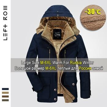 2019 Winter Jacket Men 5XL 6XL Warm Big Size Coat Thicken Windbreaker High Quality Fleece Cotton-Padded Parkas Military Overcoat
