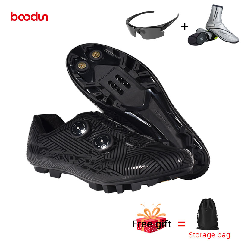 Boodun Cycling Shoes Men Bike Shoes Breathable Non Slip Bicycle Shoes Athletic Racing Sapatilha Ciclismo Mtb Self-Lock Sneakers