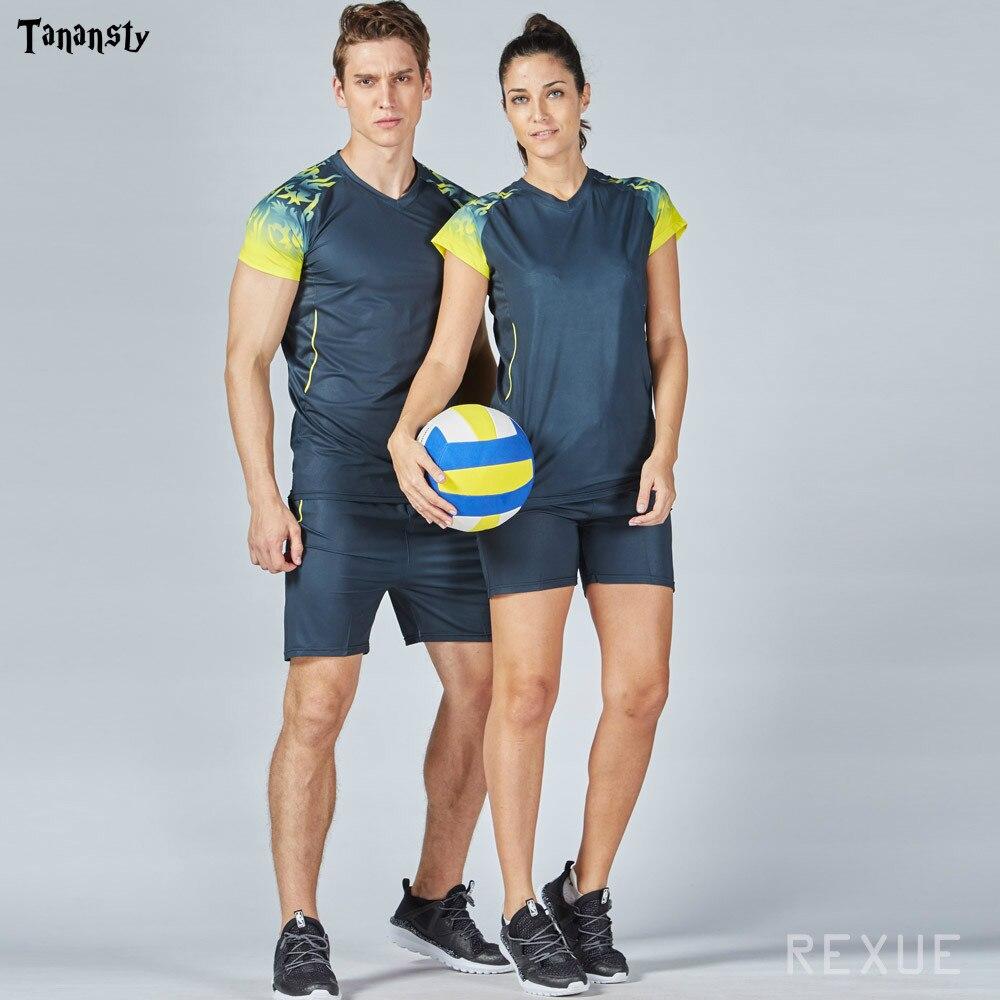 Hot Volleyball Uniforms Mens Women Sports Blank Team Volleyball Shorts Men Sporting Training Suit Volleyball Jerseys Kits DIY