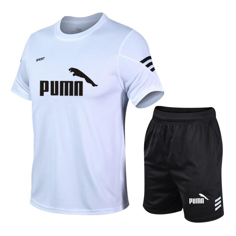 running - New running T-shirt sports gym gym T-shirt short sleeve football basketball tennis shirt quick-drying fitness sports suit casual
