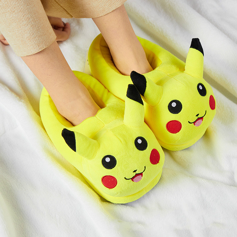 Детские плюшевые домашние тапочки с животными, зимняя теплая хлопковая обувь аниме Stich, обувь для косплея, детские тапочки, семейные Тапочки