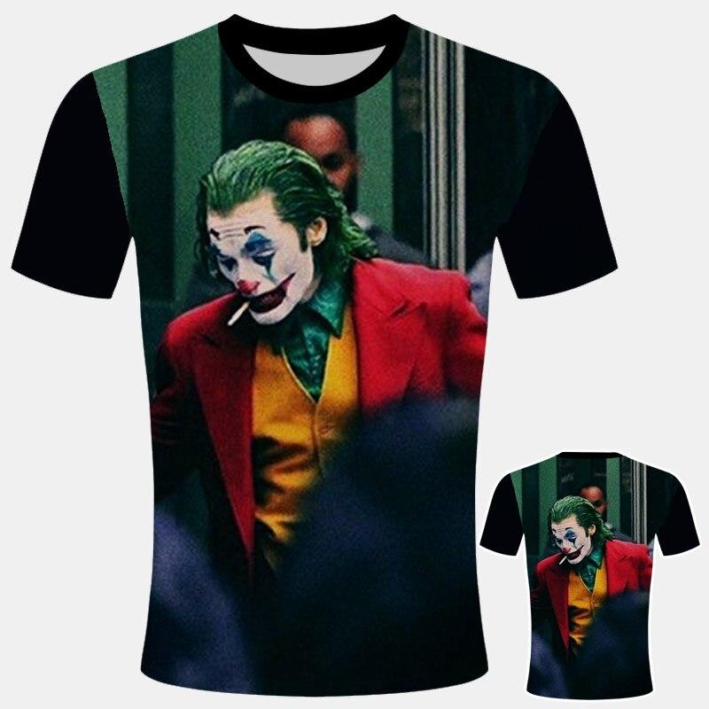 Хит продаж, Футболка Джокер, новинка, 3d принт, Забавный персонаж комиксов, Джокер с покером, футболка, летняя Мужская/Женская футболка в