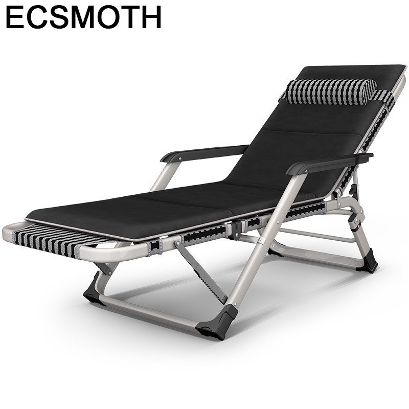 Beach Fauteuil Mueble Silla Playa Recliner Chair Camping Folding Bed Garden Salon De Jardin Outdoor Furniture Chaise Lounge