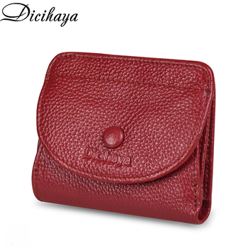 Genuine Leather Hasp Wallet Women Casual Simple Female Short Small Wallets Coin Purse Card Holder Men Money Bag with Hasp Pocket piroyce genuine leather men wallets with coin bag hasp mens wallet male money purses wallets multifunction men wallet
