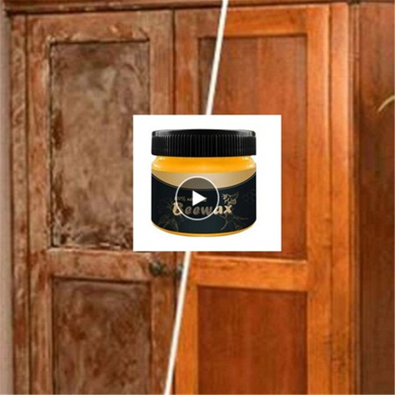 100g 80g 50g Beeswax Furniture Care Wood Seasoning Care Wax Solid Maintenance Cleaning Polished Waterproof Wear Resistant TSLM2