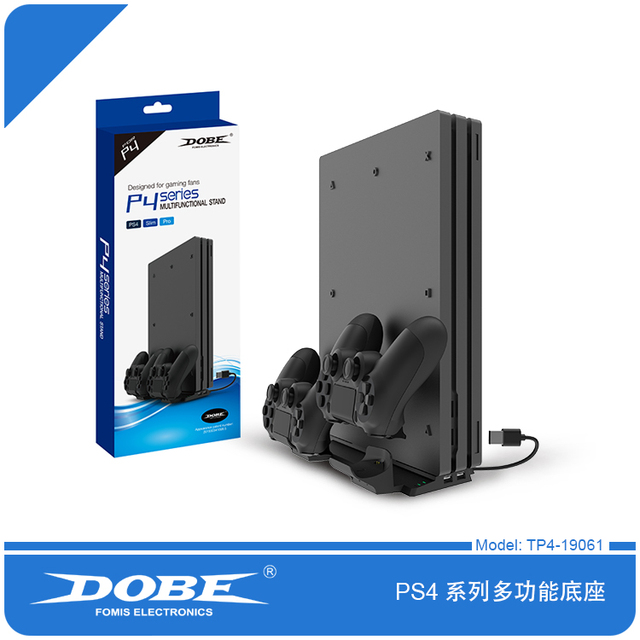 Dobe TP4 19061 Multifunktions Stand HUB Ladestation für PS4/PS4 Dünne/PS4 PRO