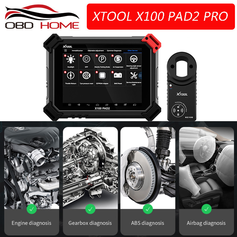 Xtool X100 PAD2 Pro Professional OBD2 Car Diagnostic Tool with key programmer For VW 4th 5th
