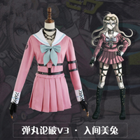 Danganronpa V3 Killing Harmony Iruma Miu Cosplay Costume Props Anime Game Woman Girls Party Dress School Uniform Outfit Suit