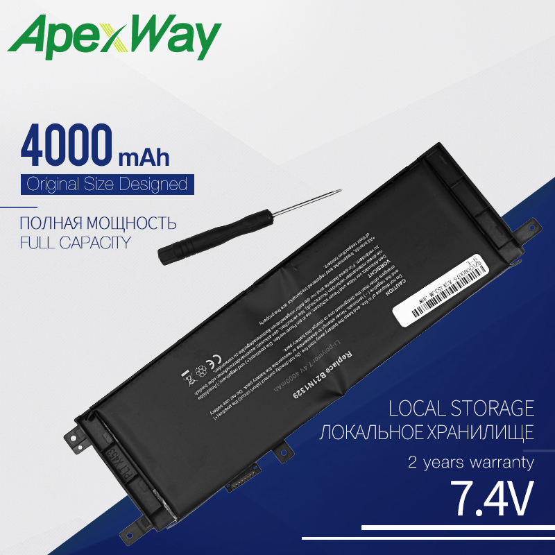 7.4V B21N1329 Laptop Battery For ASUS X553M X553MA X553 X403 X403MA X453 X453MA D553M F453 F453MA F553M P553 0B200-00840000