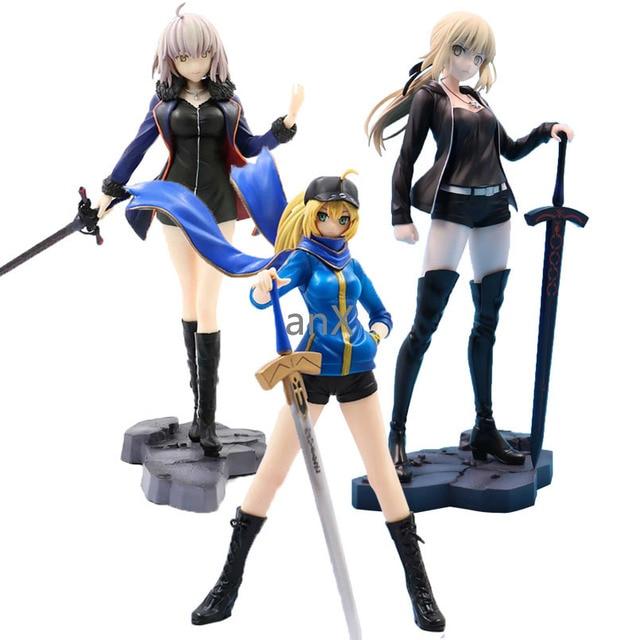 Fate Grand 24Cm Altria Pendragon Saber Fate Stay Night Pvc Actiefiguren Speelgoed Collectible Model Speelgoed Voor Kids Kinderen