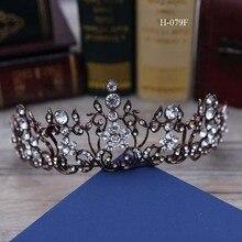 European style big crown headwear bride wedding tiara bridal makeup headdress princess baroque crown wedding hair accessories