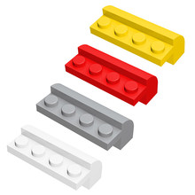 Inclinação curvada 2x4x1 1/3 blocos de construção peças moc monta partículas tijolos peças educacional presente criativo brinquedos