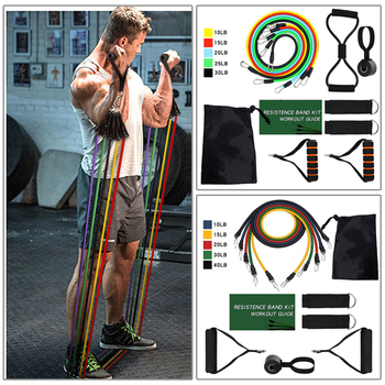 Eight kinds of Resistance Bands Sets Elastic Tubes Band Training Equipment 1