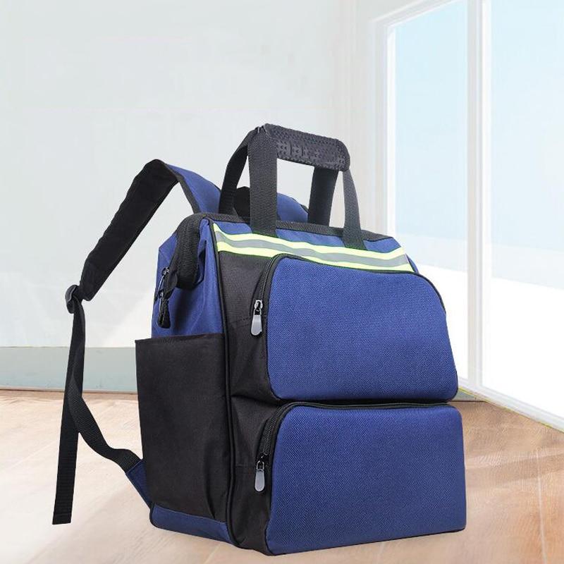 Shoulder Kit Multifunction Tool Backpack Oxford Cloth Backpack Backpack Bag Reflective Strip Tool Storage Bag Handbag