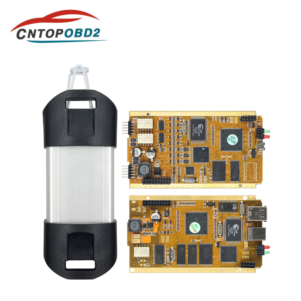 For Renault Can Clip V198 Full Chip CYPRESS AN2131QC Can Clip Car Diagnostic Tool Gold PCB For 1998-2019 Pin Extractor+Reprog