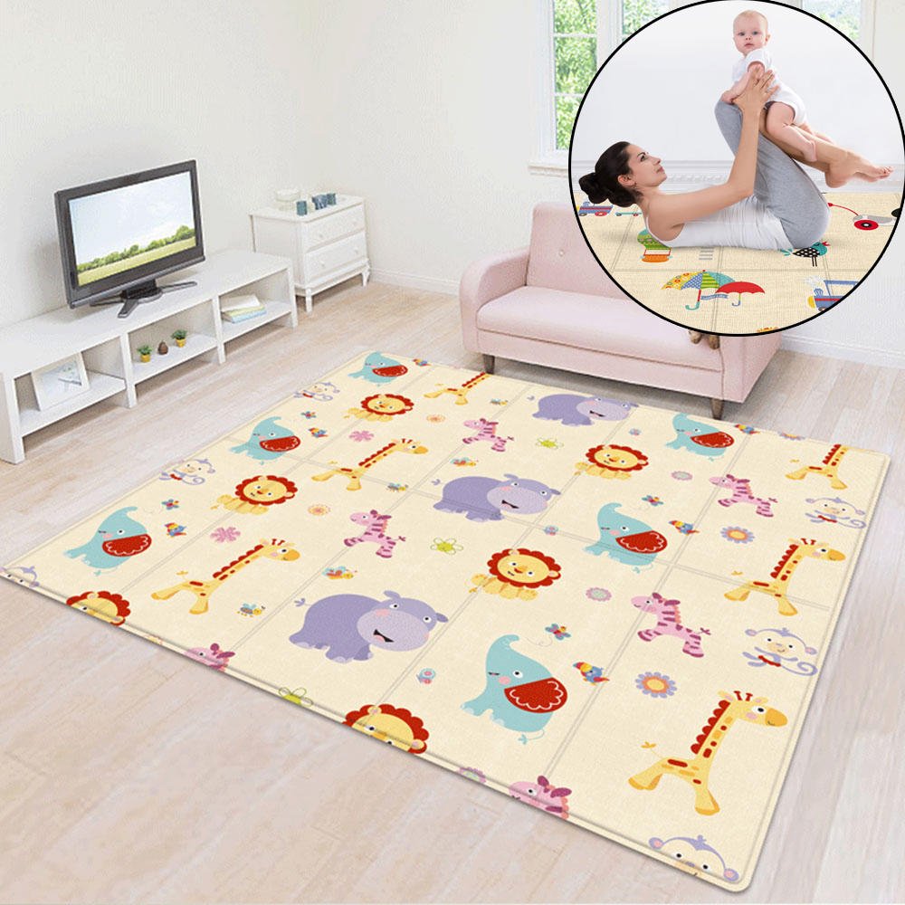 Portable Foldable Baby Play Mat Crawling Pad Folding Thickening Environmental Friendly Household Children BPA Free Floor Mat