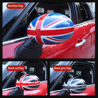 2pcs Car Rearview Mirror Decorative Shell For MINI Cooper JCW R55 R56 R61 R60 Car accessories exterior car sticker Modification
