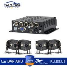 4 Channel Car Dvr 4ch MDVR Mobile Video Recorder Vehicle Dvr Car Security Camera System Video Register Automobile DVR Camara Kit цена 2017